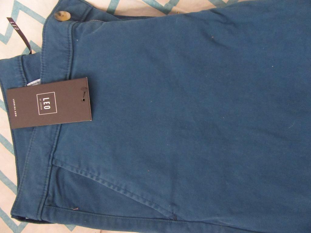 Pantalón dril azul