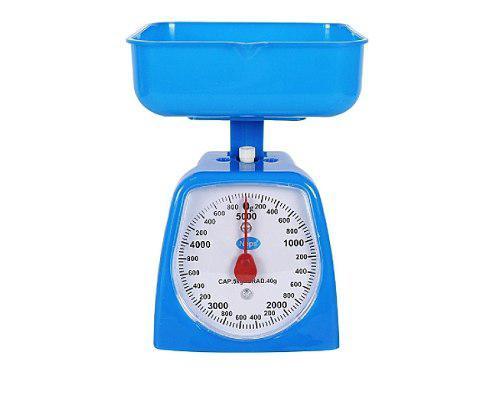 Pesa Bascula Gramera Análoga 5kg Cocina + Bandeja Colores