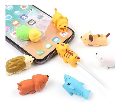 Protector Cable Cargador Usb iPhone Samsung Huawei Animales