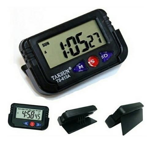 Reloj Digital Carro O Oficina Alarma Con Soporte Flexible