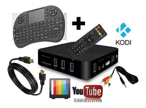 Tv Box + Teclado I8 + Iptv + Cable Av + 300 Canales Pereira