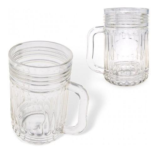 Vaso Cervecero De 14 Onzas Transparente Diseño Elegante