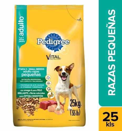 Alimento Para Perro Pedigree Raza Pequeña X 25kg