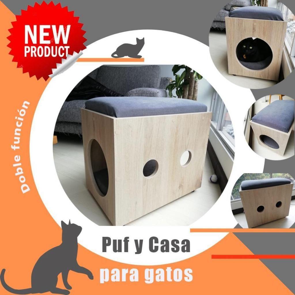 Casa para gato - Puf Asiento (doble función)