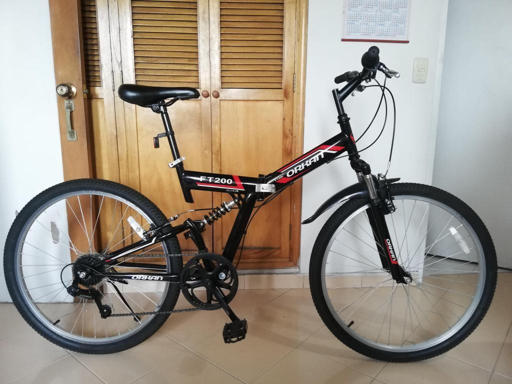 Bicicleta Marca Orkan Modelo Ft200 Tipo Plegable Color Negro