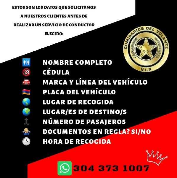Conductor Elegido Barranquilla 24hrs