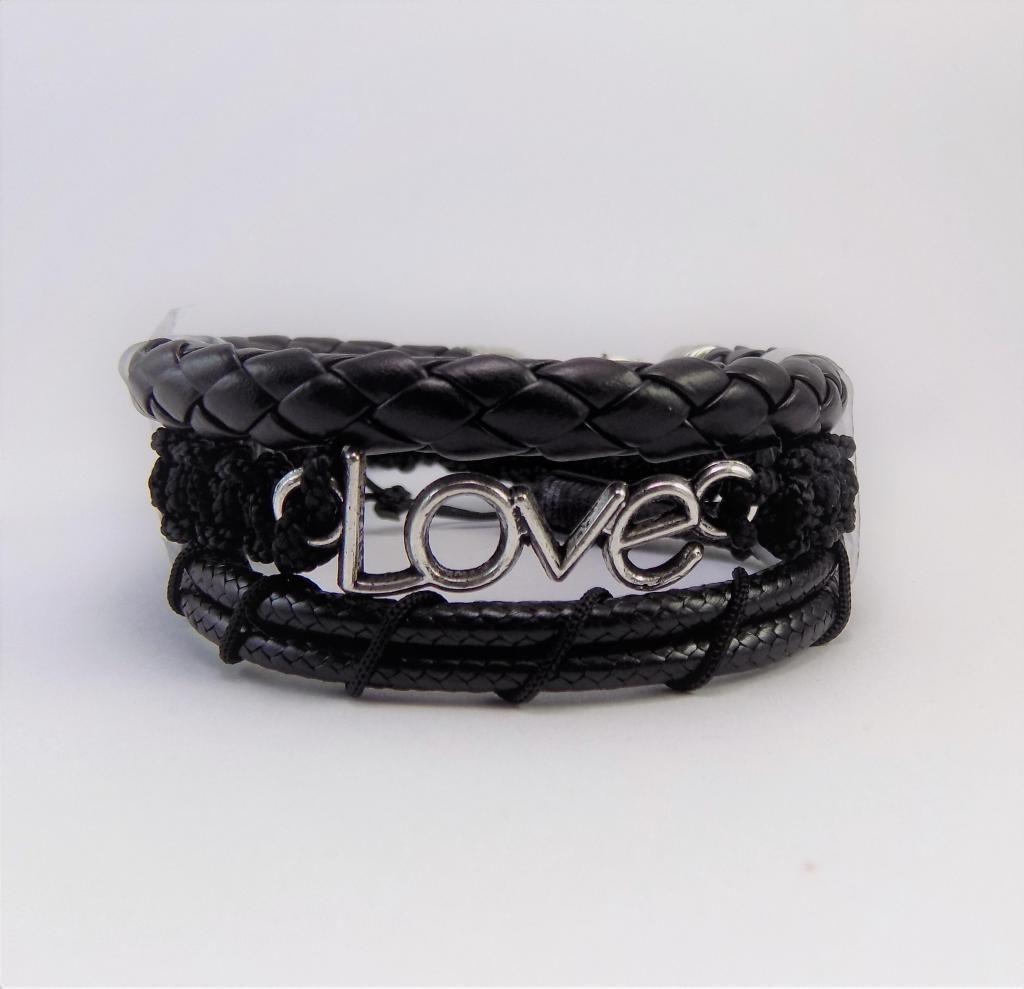 Manilla, pulsera, brazalete de cuero, love, para hombre y