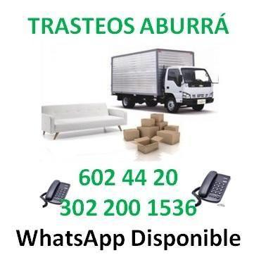 Mudanzas Tel: 602 4420 Trasteos y acarreos en Medellín y
