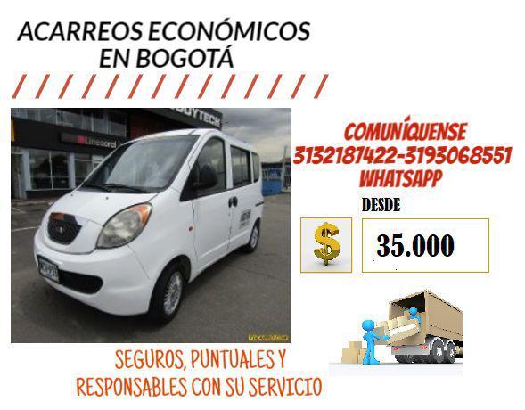 Mudanzas Y Acarreos En Bogotá 35.000