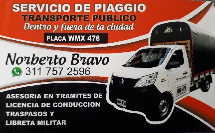 Servicio de Transporte en Piaggio