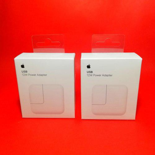 2 Cargadores Original 6 7 8 X iPad 2 3 4 Pro Apple 12w