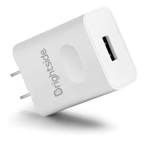 Cargador Brightside 2 Amperios Reales Quick Charge 2.0