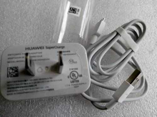 Cargador Huawei Super Charge 4.5a. Tipo C, Micro Usb Genuino