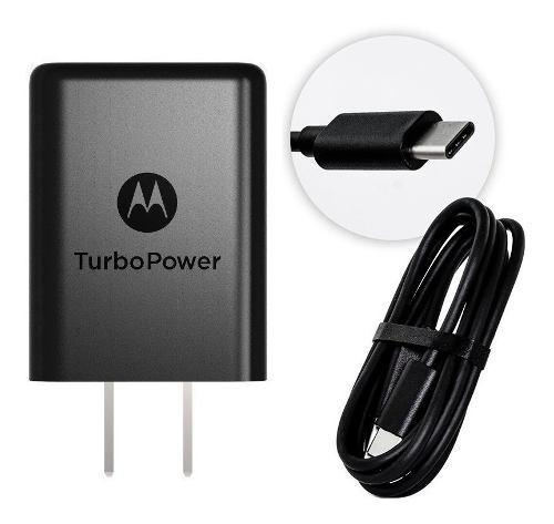 Cargador Motorola Turbo Tipo C Original 3a - Negro