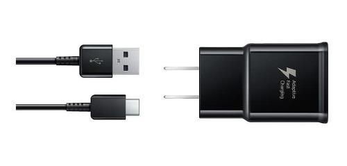 Cargador Samsung 15w + Cable Tipo C Negro