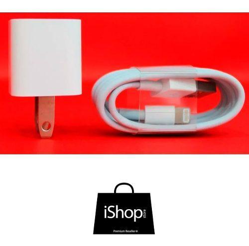 Cargador iPhone 5 6 7 8 Original Apple + Cable 1 Metro