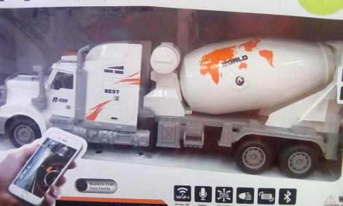 Carro Mixer O Mezcadora De Concreto A Control Remoto