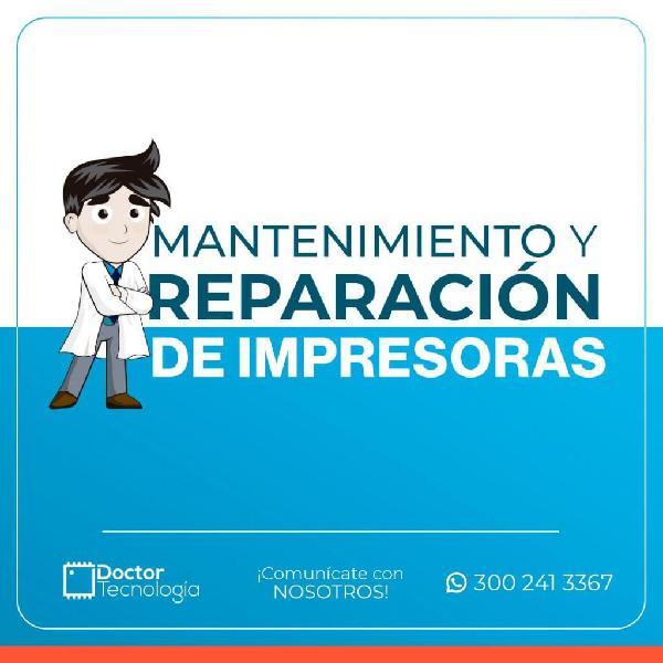 MANTENIMIENTO Y REPARACIÓN DE IMPRESORAS, TAMBIEN A