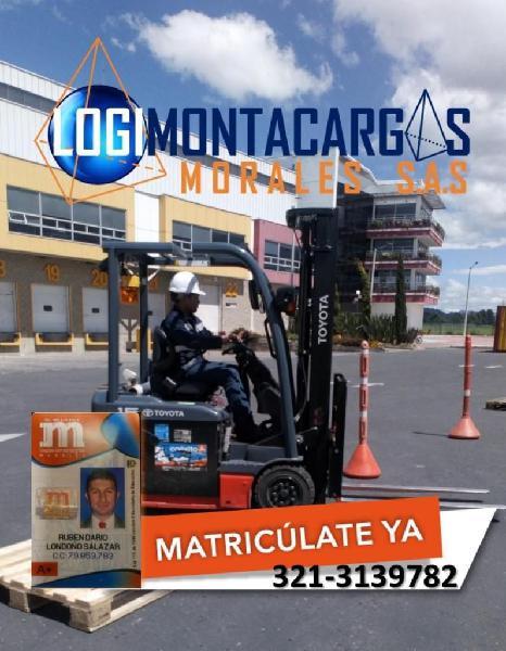 OPERADOR DE MONTACARGAS CERTIFICADO