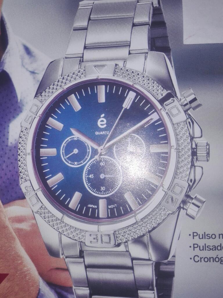 Reloj Quartz Pulso Metálico Hombre