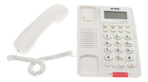 Teléfono Fijo Con Cable Gran Pantalla Llamada Manos Libres