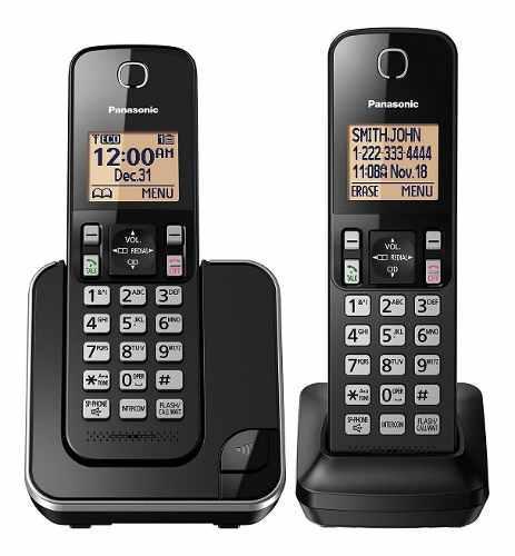 Teléfono Inalámbrico Panasonic 2 Auriculares Kx-tgc352b,