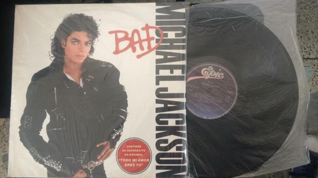Lp Bad Michael Jackson de 10 Esta 9
