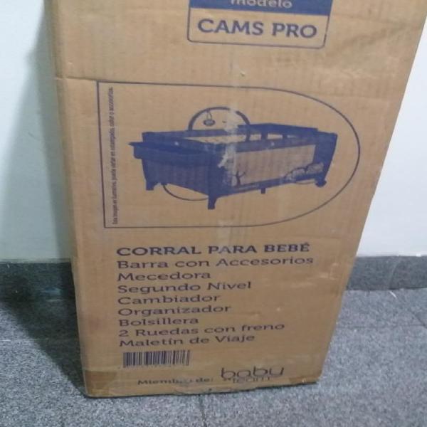 Corral Mecedora Happy Baby Cams Pro Azul