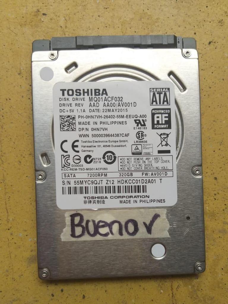 Disco Duro 320GB Para Portatil  TOSHIBA