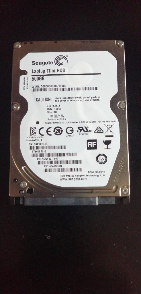 Discos Duros de 500 Gb para Portátil