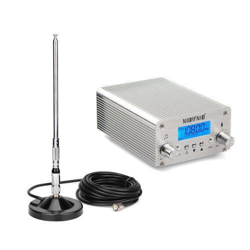 Emisora 15w 30km Transmisor Fm Estéreo + Antena 1/4 Onda Bt