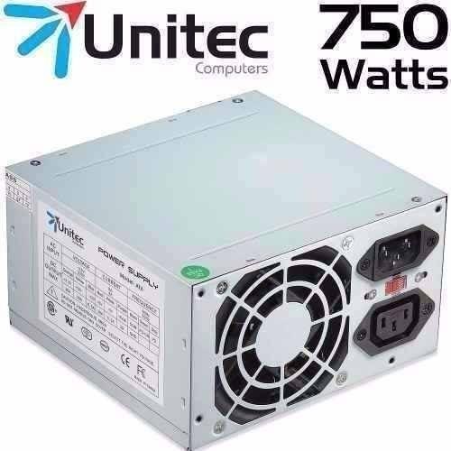 FUENTE DE PODER PARA PC UNITEC ATX 750W