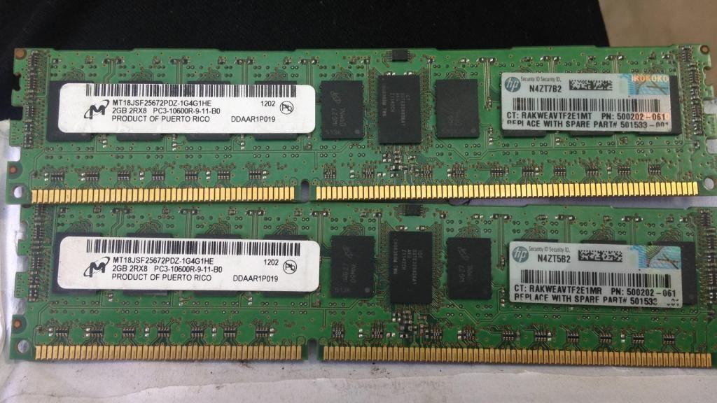 Memoria DDR3 2Gb  Frecuencia para Servidores
