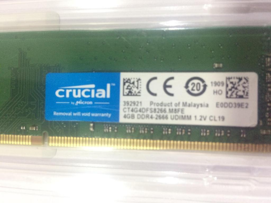 Memoria Ram 4gb Crucial Pc Ddr4 Pc  Mhz