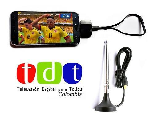 Sintonizador Tdt Para Celular O Tablet Dvb T2 + 2 Antenas