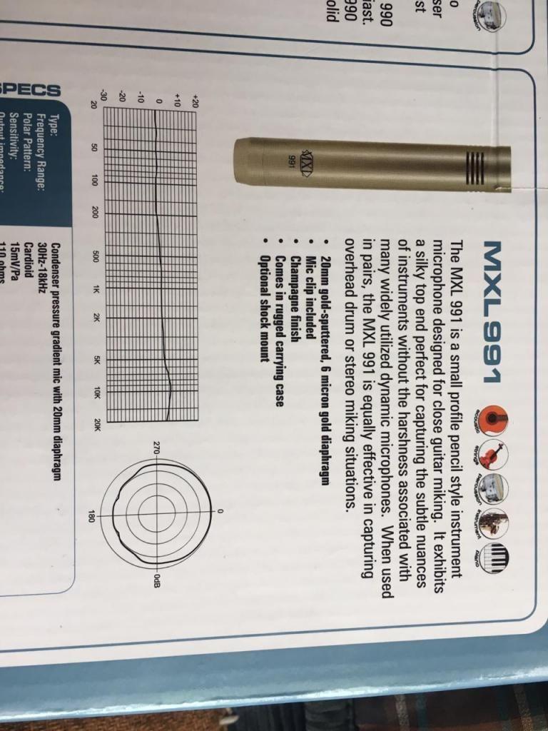 microfono de condensador mxl 991