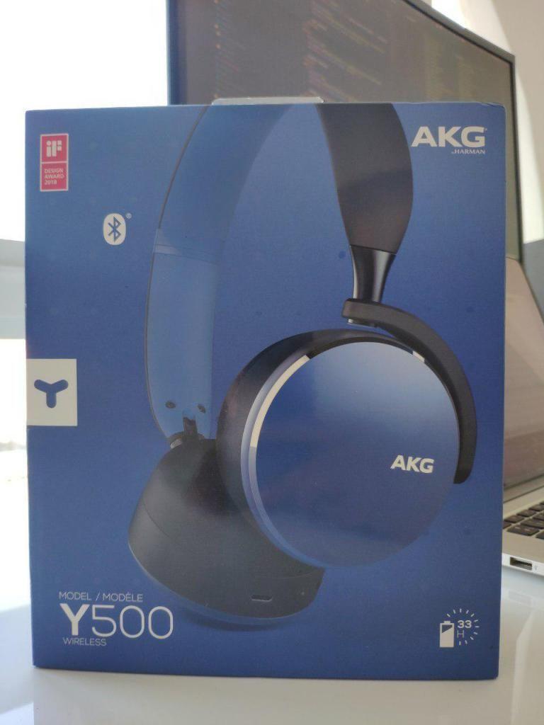 Audífonos Inalámbricos Bluetooth AKG Y500 Azules Nuevos