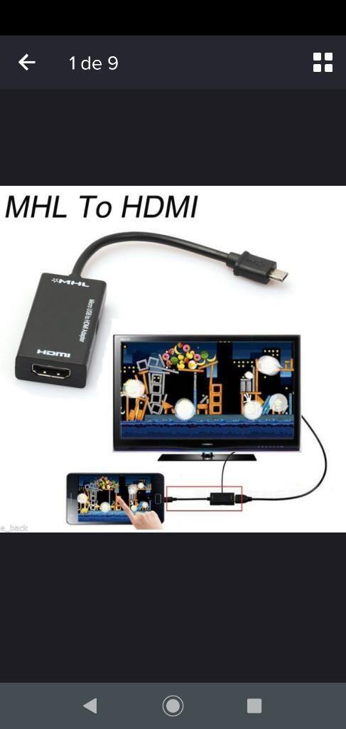 Cable Convertidor Micro Usb Mhl a Hdmi