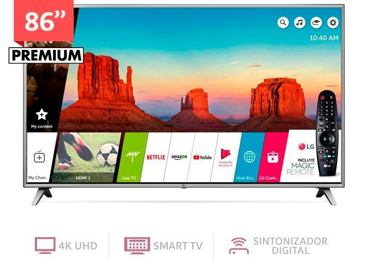 LG 86 PULGADAS UHD 4K SMART TV CONTROL MAGIC