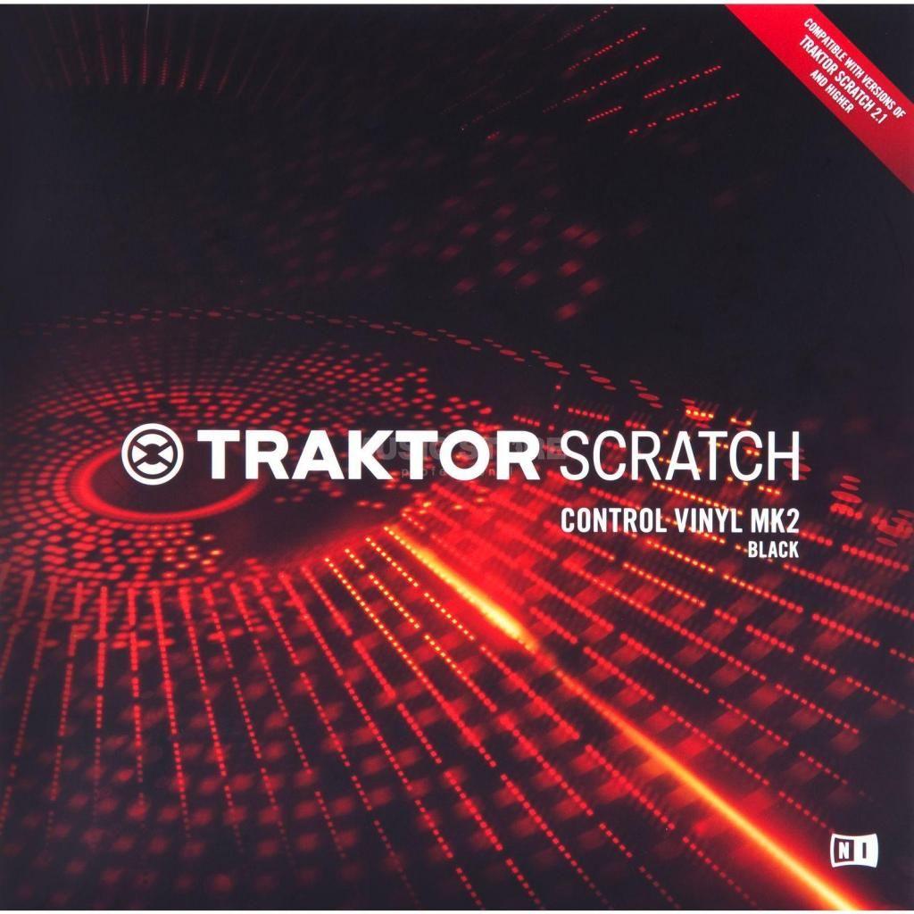 Pareja de Vinilos Traktor Scratch Mk2 Timecode Nuevos Color