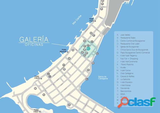 Arriendo Oficina de 67m2 en Cartagena Bocagrande