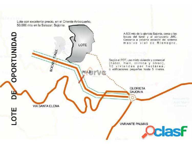Lote en Venta boca del túnel de oriente Rionegro