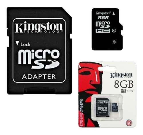 Memoria Micro Sd+adaptador 8 Gb Kingston Clase 10