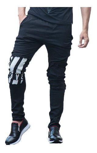 Pantalon Jogger Rare Negro Sudadera En Dril Maxi®