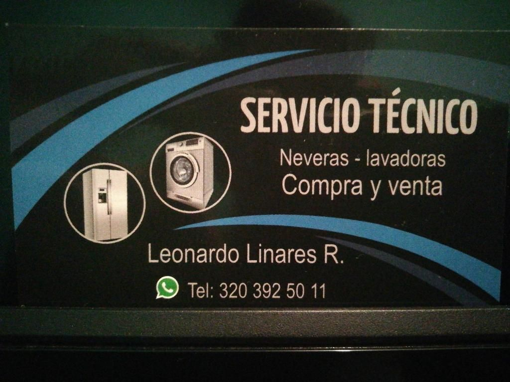 Serviocio Tecnico Mtto Neveras Lavadoras