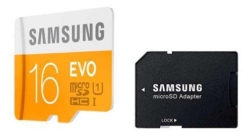Tarjeta Memoria Micro Sd 16gb Samsung Clase 10