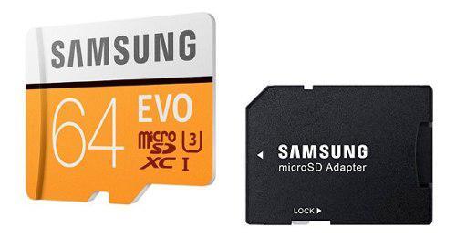 Tarjeta Memoria Micro Sd 64gb Evo Clase 10 Graba 4k