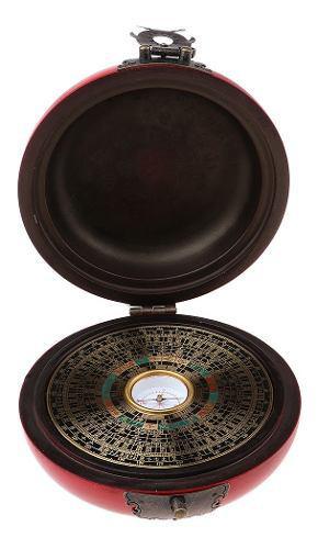 Compás Chino Antiguo Feng Shui Luo Pan Con Caja De