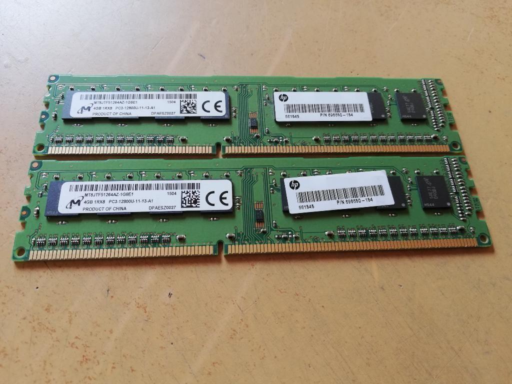 2 Memorias Ram Ddr3 de 4 Gb