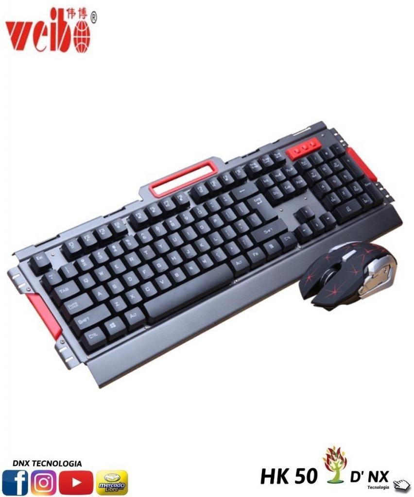 Combo Teclado Gamer Inalambricomousepad Mouse**